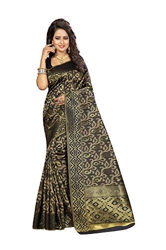 Indian Sarees For Women Party Wear Designer Wine Color In Black Kanjivaram Silk by Fashions Trendz