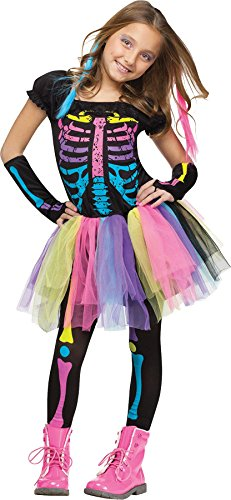 James Bond Girl Costumes Halloween (Fun World Funky Punky Bones Costume, Large 12 - 14,)