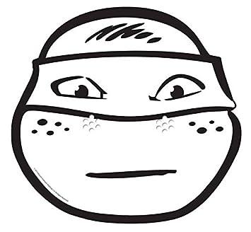 Desconocido Star Cutouts – stsmc5 – Máscara para adulto Michelangelo – Tortuga Ninja – a para