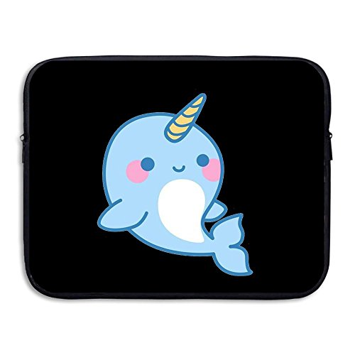 Cute Narwhals Dolphi Unicorn Briefcase Handbag Case Cover For 13-15 Inch Laptop, Notebook, MacBook (Narwhal Costume For Sale)
