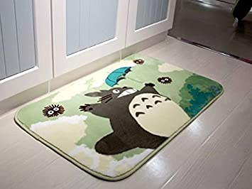 Stay Young Sytian 50x80cm Super Soft Non-Slip My Neighbor Totoro Shaggy Area Rugs Carpet Bedroom Rug Bath Mat Bathroom Rug Kitchen Floor Mat Shower Rug (19.68x31.49 Inch) shaggy area Rug 888