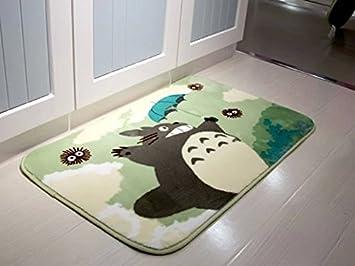 Sytian® 50*120cm Super Soft Non-slip Absorbent My Neighbor Totoro Area Rug Carpet Bedroom Bathroom Kitchen Floor Mat Shower Rug Stay Young shaggy area Rug 8889