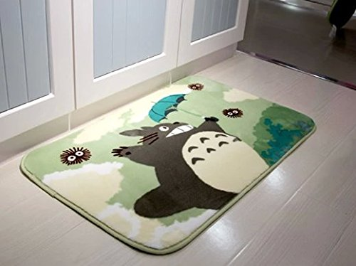Sytian® 50*80cm Super Soft Non-slip My Neighbor Totoro Shaggy Area Rugs Carpet Bedroom Rug Bath Mat Bathroom Rug Kitchen Floor Mat Shower Rug (19.68*31.49 Inch) by Stay Young