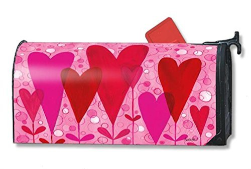 MailWraps Magnet Works Hearts and Flowers Magnetic Mailbox Cover