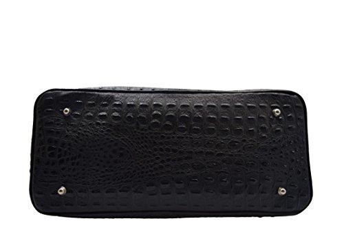cuir en crocodile imprimé Noir Sac qHvA0S