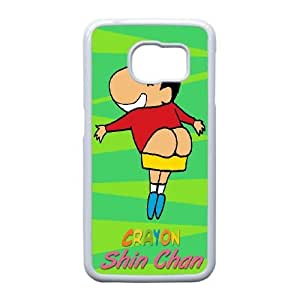 Personalized Durable Cases Samsung Galaxy S6 Edge Cell Phone Case White Crayon Shin chan Txnfq Protection Cover