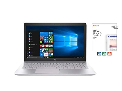 HP Pavilion 15.6 inch FHD IPS Touchscreen Business Laptop PC,Intel 8th Genl Quad-Core i5-8250U,8G RAM,1T HDD,USB Type-C, Webcam HDMI,Ethernet RJ-45,Windows 10,Office Home&Student Included ($150 MSRP) (2 Cell 41 Whr Lithium Ion Battery)