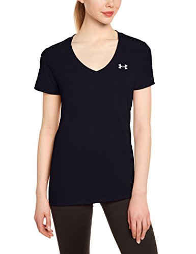 Under Armour Tech Ssv Solid Camiseta de Manga Corta, Mujer Negro