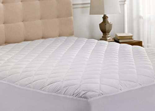 Hypoallergenic Quilted Stretch-to-Fit Mattress Pad By Hanna Kay, 10 Year Warranty-Clyne Collection