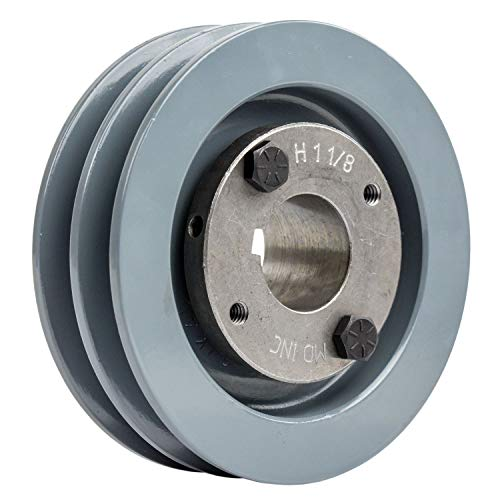 1.125 Pulley - 2 Piece Cast Iron 4.5