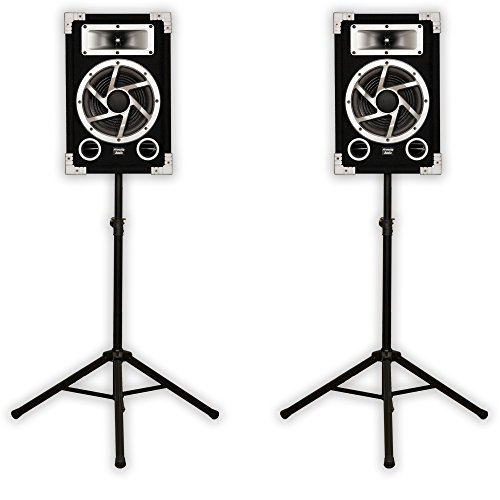 Acoustic Audio GX-450 DJ Speakers & Stands 2-Way for PA Karaoke Home Audio ()