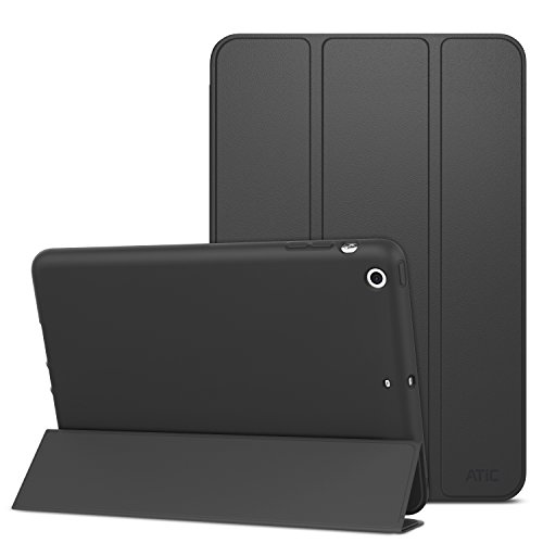 Super Slim Smart Leather Cover Case for Apple iPad Air 1 (Black) - 2