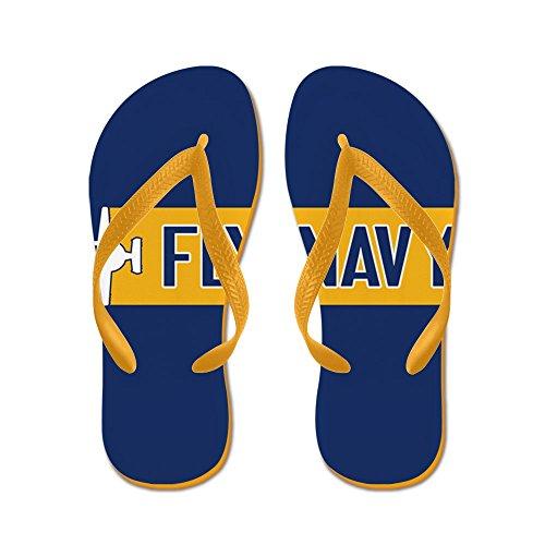 Cafepress Oss Marin: Fly Navy (e-2) - Flip Flops, Roliga Rem Sandaler, Strand Sandaler