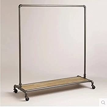 WGX Design For You Industrial Pipe Clothing Rack Garment Pipeline Vintage Closet Organizer