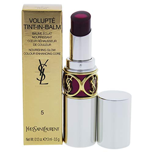 Yves Saint Laurent Volupte Tint In Balm 5 Dare Me Plum for Women, 0.12 Ounce