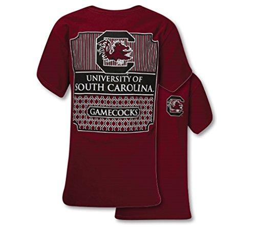 Southern Couture SC Collegiate Preppy South Carolina Womens Classic Fit T-Shirt - Garnet, X-Large