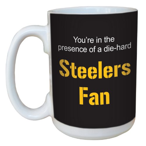 (Tree-Free Greetings lm44132 Steelers Football Fan Ceramic Mug with Full-Sized Handle, 15-Ounce)