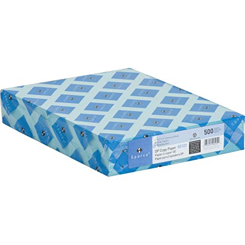 Sparco Premium-Grade Pastel Color Copy Paper - Letter - 8.5 x 11-20lb - Recycled - 500 / Ream - Blue