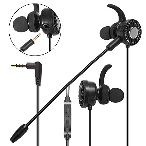 Insten 3.5mm Gaming Earbuds with Mic Audio