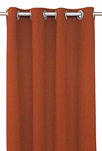 RSH Décor Indoor/Outdoor Brush Nickel Grommet Curtain Panel Made from Sunbrella Echo Sangria (50