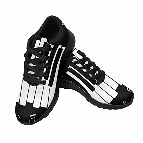 InterestPrint Womens Jogging Running Sneaker Lightweight Go Easy Walking Comfort Sports Running Shoes Music Icon, With Piano and Musical Notes Multi 1