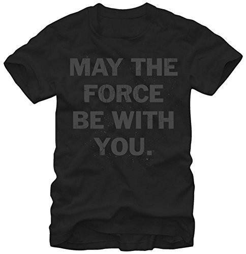 Star Wars Mens May The Force Short Sleeve T Shirt  Black  2X Large