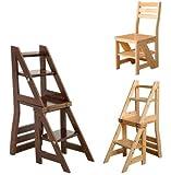 SmartLife Bibliothèque Échelle Chaise pliante en bois