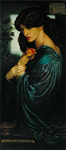 [Oil Painting 'Dante Gabriel Rossetti - Proserpine,1874' Printing On Perfect Effect Canvas , 12x27 Inch / 30x69 Cm ,the Best Garage Decor And Home Artwork And Gifts Is This Best Price Art Decorative Prints On] (Pop Art Halloween Costume Tutorial)