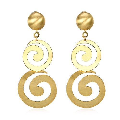 Women's Linear Swirl French Wire (Swirl French Hook Earrings)