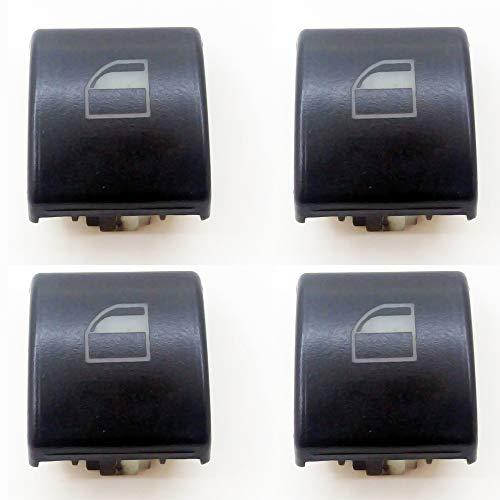 4x Window Switch Button Cap Cover Replacement for BMW 3 Series E46 X5 X3