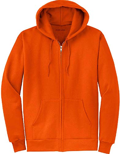 Joe's USA Full Zipper Hooded Sweatshirts, Orange,2X-Large]()