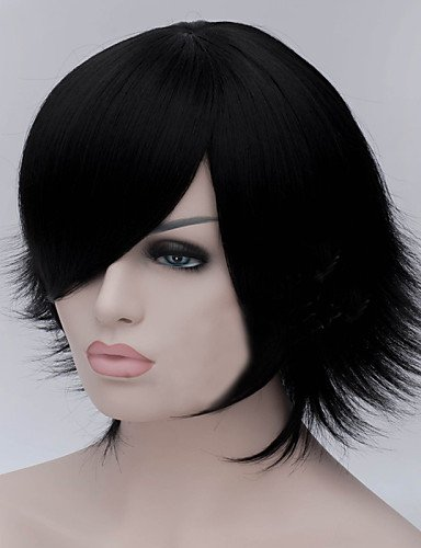 General quality amazing Special The New Cartoon Color Wig Black Become Warped Short Straight Hair (Harley Quinn Costume Commission)