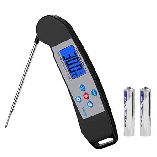 Price comparison product image TP600 Foldable Digital Food Thermometer Collapsible Probe Cooking Temperature Tester Meter Instant Read BBQ Thermometer