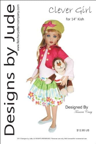 "Separates Doll Clothes Sewing Pattern 14/"" Kish Lark Wren Raven Piper"