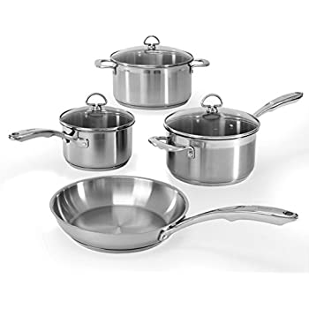 Chantal SLIN-7 Induction 21 Steel 7-Piece Cookware Set