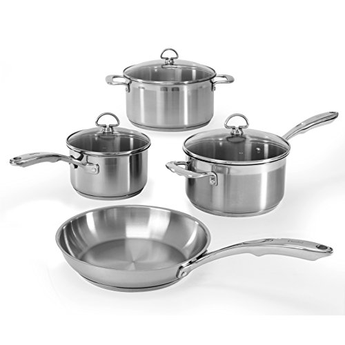 (Chantal SLIN-7 Induction 21 Steel 7-Piece Cookware Set)