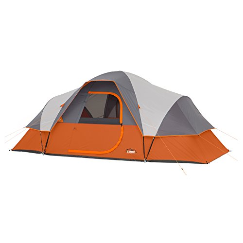 CORE 9 Person Extended Dome Tent - 16' x 9' (Best 12 Person Tent 2019)