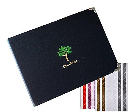 Forusky 60 Pages 27 x 19 cm DIY Scrapbook Travel Memory Album,Baby Growing Album,Wedding Guest Book for Instax Mini 70 7S 7C 8 8 9 25 26 50S 90,Wide 300,Wide 210,Squar SQ10,Lomo Films Tree