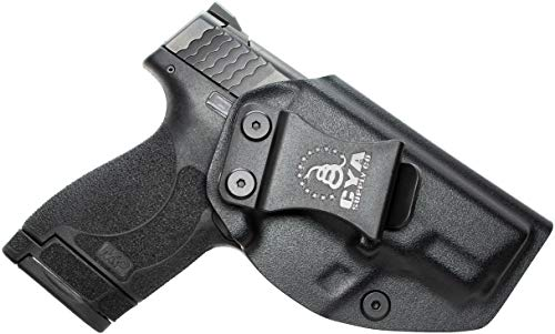 CYA Supply Co. IWB Holster Fits: Smith & Wesson M&P Shield & Shield 2.0-9MM/.40 S&W - Veteran Owned Company - Made in USA - Inside Waistband Concealed Carry Holster (M&p Holster Kydex 40)