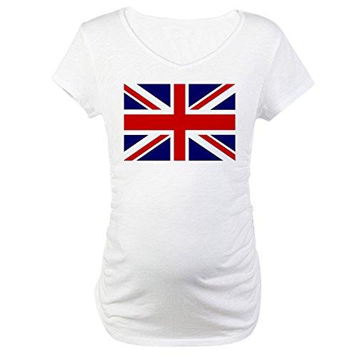 Royal Lion Maternity T-Shirt British English Flag HD - White, - Pregnancy Kate Middleton Fashion