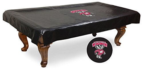 Wisconsin Badgers Bucky Billiard Table Cover-9 by HBS