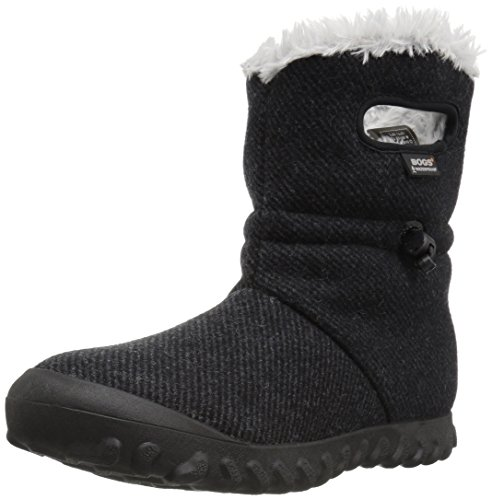 Bogs Women's Bmoc Wool Snow Boot, Black, 9 M US