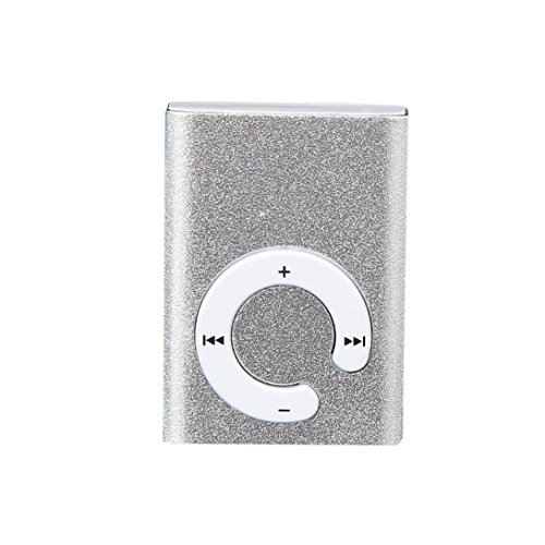 Price comparison product image Mini Clip Metal USB MP3 Player Aobiny Support Micro SD TF Card Music Media MP3 Player (Silver)