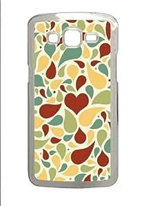 Light Colors Petals Polycarbonate Hard Case Cover for Samsung Grand 2/Samsung Grand 7106 Transparent