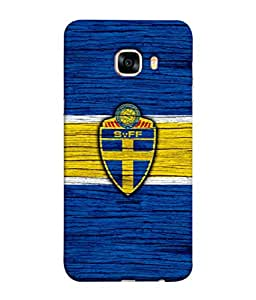 ColorKing Football Sweden 10 Blue shell case cover for Samsung C7