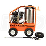Easy-Kleen EZO4035G-K-GP-12 Commercial Hot Water Gas-Oil Fired Pressure Washer, 3.5 GPM, 4000 psi, 14 hp Kohler, Direct Drive, Electric Start, Orange