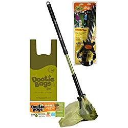 GoGo Stik Totally Clean Standard ST Pooper Scooper. You and Tool Stay Clean. 25 to 36 inches. Use with Optional EZ Wedge (rake Substitute). Use Plastic Store Bags Dootie Bags.