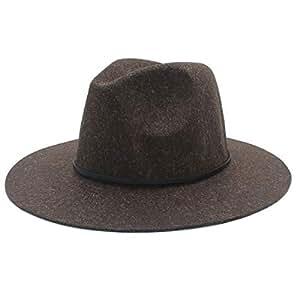 Fedora Cap Wool Men Women Fedora Hat Dance Party Hat Casual Wild Church Hat Adult Jazz Hat Size 56-58CM Felt hat (Color : Coffee, Size : 56-58)
