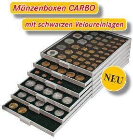Lindner 2115C Bandeja monedas Carbo con 30huecos para monedas//c/ápsulas de /Ø 38