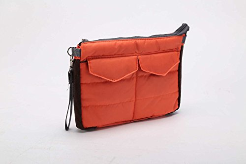 Travel Organiser Pouch Bag for Tablet or Computer with multiple compartments - for bag in bag, toiletries, makeup, tablets etc (Red) by Q4Travel (Image #1)